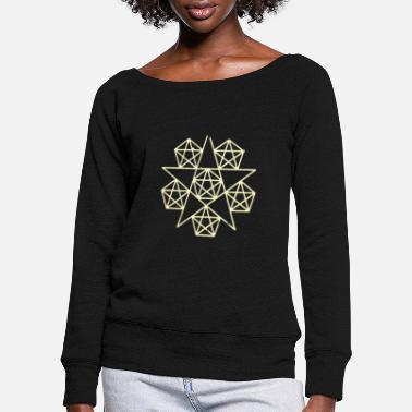 Sacred Geometry sacred geometry - Women's Wide-Neck Sweatshirt