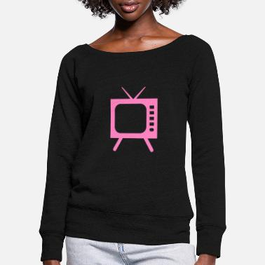 Tv TV - TV - Women's Wide-Neck Sweatshirt