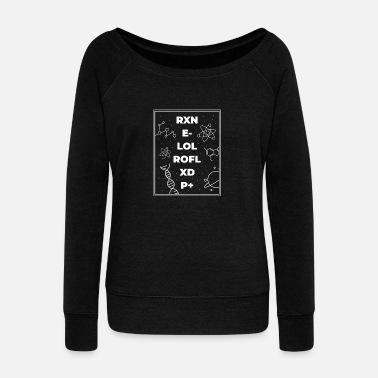 Atom Gift idea for teachers or nerds - Women's Wide-Neck Sweatshirt