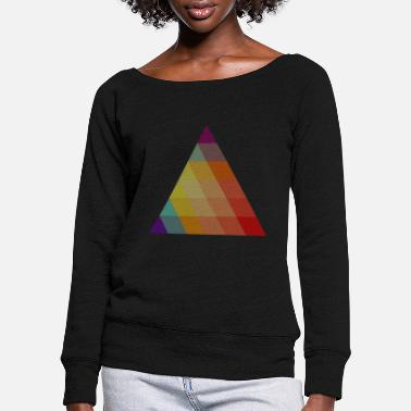 Triangle triangle - Women's Wide-Neck Sweatshirt
