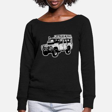 Land Rover Defender Land Rover Defender, Jeep, SUV - Women's Wide-Neck Sweatshirt