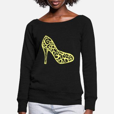 Hack Shoes Shoes highheels hoe boots fetish craves love - Women's Wide-Neck Sweatshirt