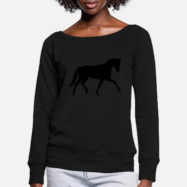 Dressage Dressage dressage - Women's Wide-Neck Sweatshirt