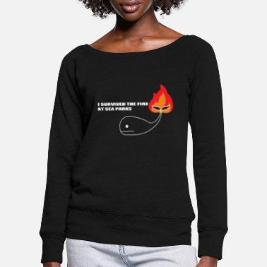 sea parks - Women's Wide-Neck Sweatshirt