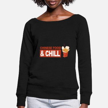 Chinese Food Chinese food - Women's Wide-Neck Sweatshirt