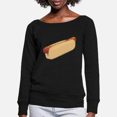 Symbols-shapes HotDog symbol shape icon - Women's Wide-Neck Sweatshirt