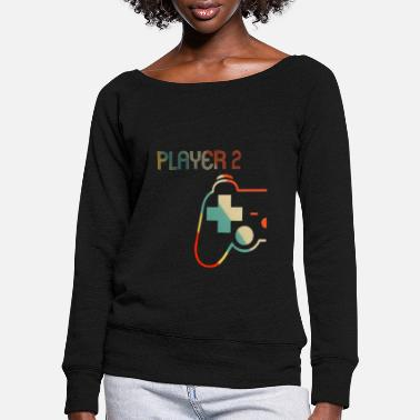 Matching Gamer Couple tee-shirt joueur 1 joueur 2 - Pull col bateau Femme