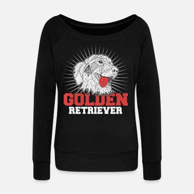 Golden Retriever Golden retriever - Women's Wide-Neck Sweatshirt