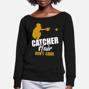 Softball Catcher Softball catcher - Women's Wide-Neck Sweatshirt