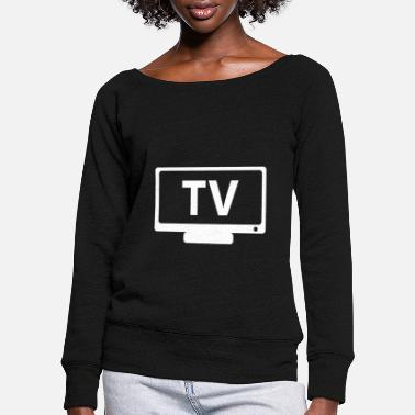 Tv TV TV - Women's Wide-Neck Sweatshirt