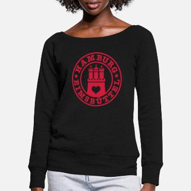 Eimsbuettel Hamburg District Eimsbuettel 1c - Women's Wide-Neck Sweatshirt