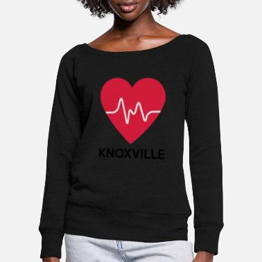 Knoxville heart Knoxville - Women's Wide-Neck Sweatshirt