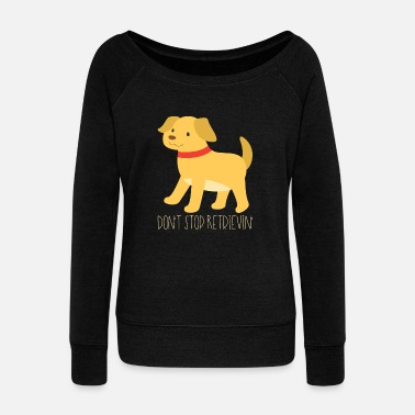 Golden Retriever Golden retrievers - Sweatshirt med ubåds-udskæring dame