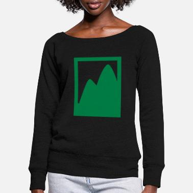 Polaroid polaroid landscape mountains - Women's Wide-Neck Sweatshirt