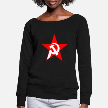 Community communism - Women's Wide-Neck Sweatshirt