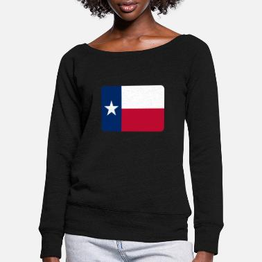 flag_of_texas - Women's Wide-Neck Sweatshirt