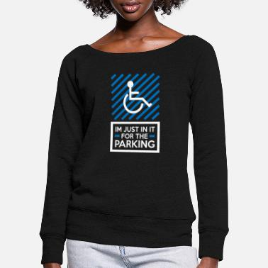 Wheelchair users - Women's Wide-Neck Sweatshirt