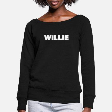 Distressed Willie Distressed - Women's Wide-Neck Sweatshirt