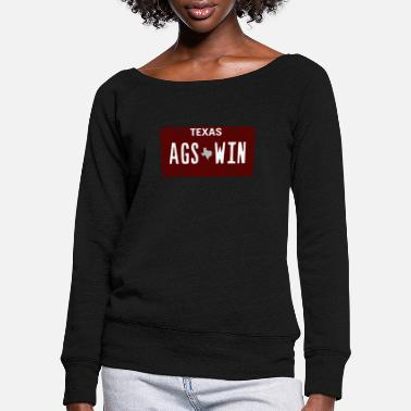 Aggie Ags Win - Women's Wide-Neck Sweatshirt