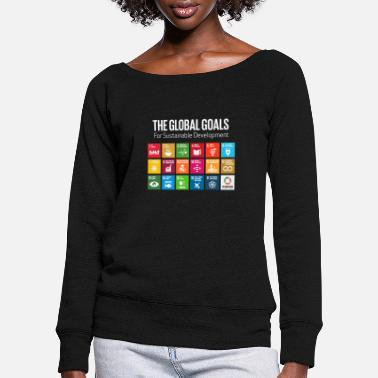 Global Het Global Goals 17 Global Goals Icons Grid - Vrouwen U-hals longsleeve