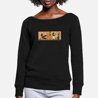 Ancient Egypt Ancient Egypt T Shirt Ankh Kemet Ra Egyptian - Women's Wide-Neck Sweatshirt