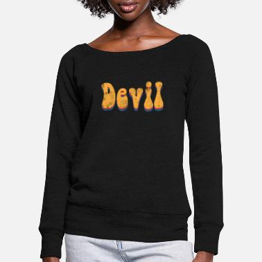 Devil Male Devil devil - Women's Wide-Neck Sweatshirt