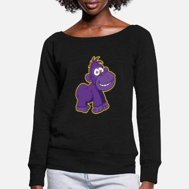 Strong Gorilla, Strong, Strong - Women's Wide-Neck Sweatshirt