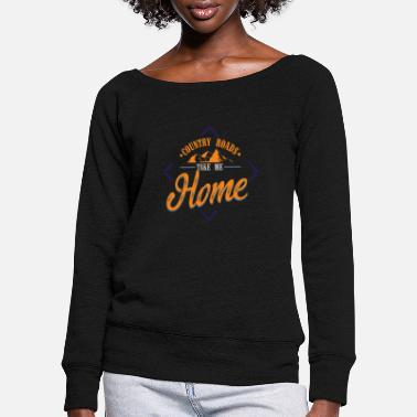 Country Country Road Take Me Home Beste liedjeshits - Vrouwen U-hals longsleeve