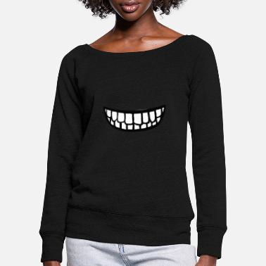 Teeth Teeth teeth - Women's Wide-Neck Sweatshirt