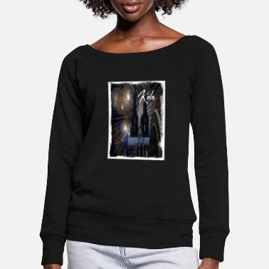 Cologne Carnival Cologne t-shirt / poster - Women's Wide-Neck Sweatshirt