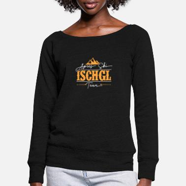 Elite Apres Ski Elite Ischgl Crew Wintersport Gift - Women's Wide-Neck Sweatshirt