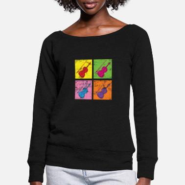 Instrument violin - Women's Wide-Neck Sweatshirt