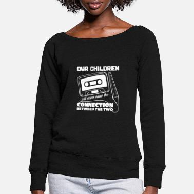 Tape Tape - Women's Wide-Neck Sweatshirt