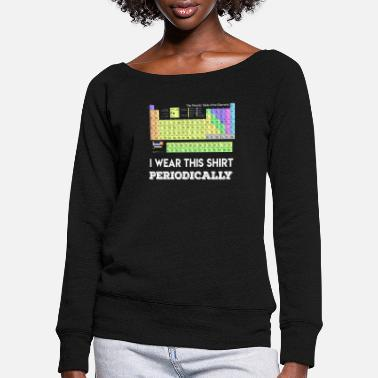 Element I wear this shirt periodically elements elements - Women's Wide-Neck Sweatshirt