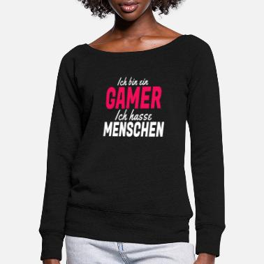 Game gaming gaming gaming gaming gaming gaming gaming - Women's Wide-Neck Sweatshirt