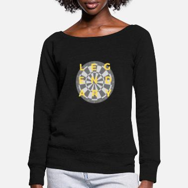 Flight Legendary darts! - Women's Wide-Neck Sweatshirt