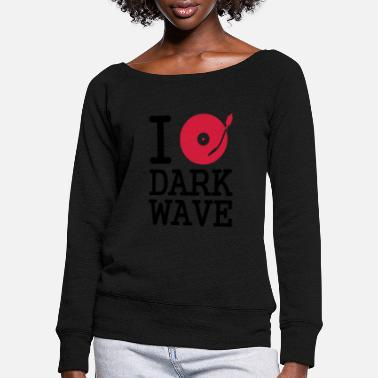 Turntable I dj / play / listen to dark wave - Frauen Pullover mit U-Ausschnitt