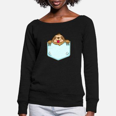 Lazy to the tips of my nails - Women's Wide-Neck Sweatshirt