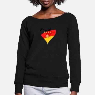 Germany Hertz 4 + 1 star - Women's Wide-Neck Sweatshirt