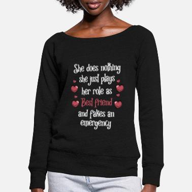 Mädchen She does nothing She just plays her role - Frauen Pullover mit U-Ausschnitt