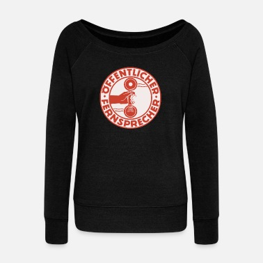 Public Public telephone - Women's Wide-Neck Sweatshirt