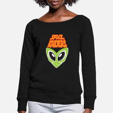 Raider SPACE RAIDERS - Women's Wide-Neck Sweatshirt