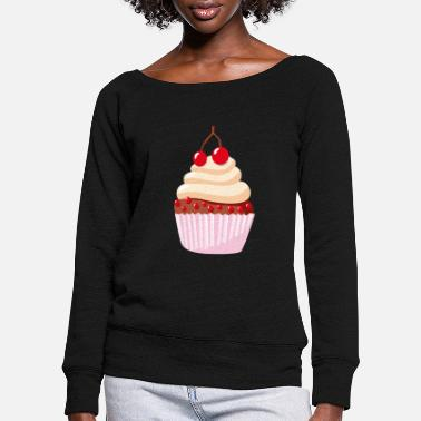 Törtchen - cupcake - muffin - Women's Wide-Neck Sweatshirt