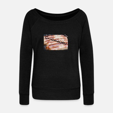 Grill Master - Women's Wide-Neck Sweatshirt