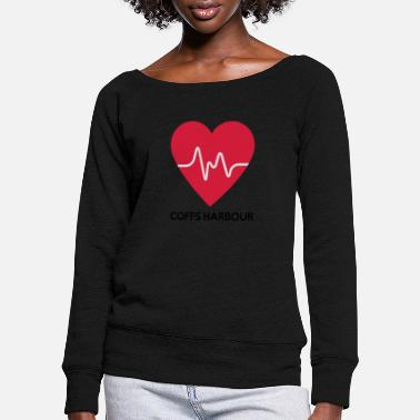 Harbour Heart Coffs Harbour - Women's Wide-Neck Sweatshirt