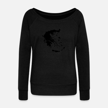 Greece Greece - Women's Wide-Neck Sweatshirt