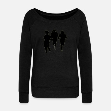 Male Dancer Dancers three male - Women's Wide-Neck Sweatshirt