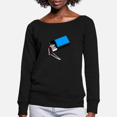 Match Matches - Women's Wide-Neck Sweatshirt