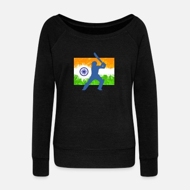 Cricket INDIAN CRICKET - Women's Wide-Neck Sweatshirt
