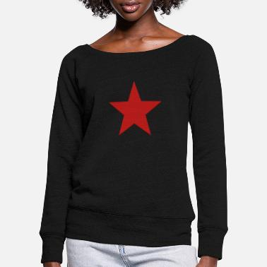 Star star red - Women's Wide-Neck Sweatshirt